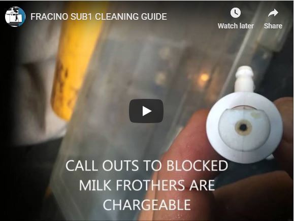 Fracino Sub1 Cleaning Guide Video